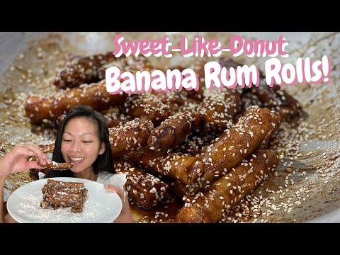 How to Make Banana Rum Rolls