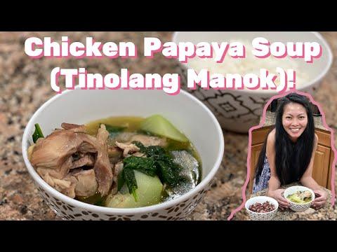 How to make Tinolang Manok Chicken Soup - Recipe