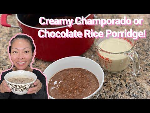 How to Make Champorado or Chocolate Rice Porridge