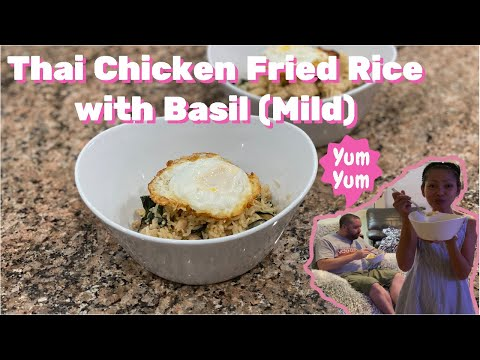 Thai Chicken Fried Rice Recipe - How to Make Thai Chicken Fried Rice with Basil (Mild)