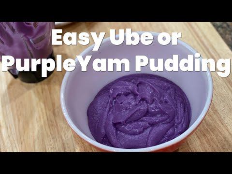 Easy Purple Yam Pudding