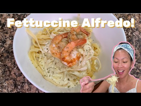 Shrimp Fettuccine Alfredo Recipe - How to Make Shrimp Fettuccine Alfredo